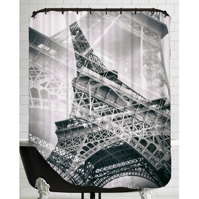 Eiffel Tower Paris Double Exposure Shower Curtain