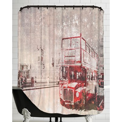 City Art London Red Buses II Shower Curtain
