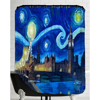 Starry Night London Parliament Van Gogh Inspirations in England Shower Curtain
