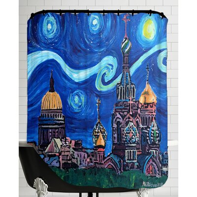 Starry Night in St Petersburg Russia Shower Curtain