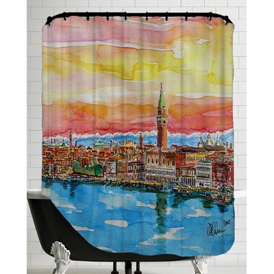 Fabulous Venice Italy with Snowcovered Alps2 Shower Curtain