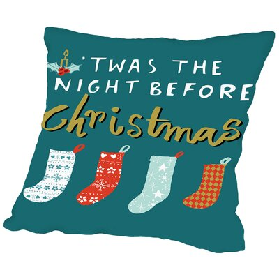 Night Before Throw Pillow Size: 16 H x 16 W x 2 D