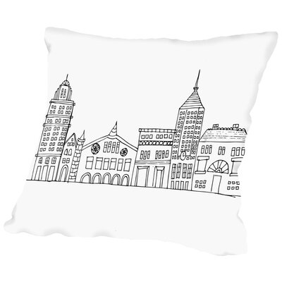 In The City 1 Throw Pillow Size: 14 H x 14 W x 2 D