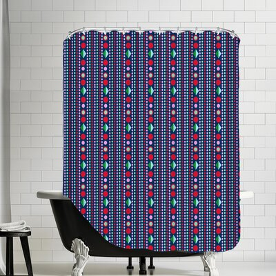 Dots Shower Curtain Color: Dark
