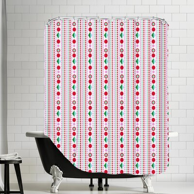 Dots Shower Curtain Color: White