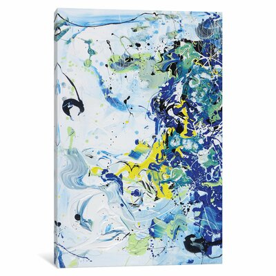 Wave Vibration Painting Print on Wrapped Canvas ESHM9084 34339097