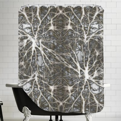 Neurons Medical Cell System Shower Curtain Color: Gray