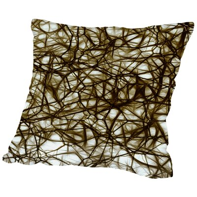 Modern Healthy Neurons Nerve Cell Biology Throw Pillow Size: 16 H x 16 W x 2 D, Color: Brown