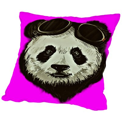 Panda Bear Throw Pillow Size: 20 H x 20 W x 2 D, Color: Pink