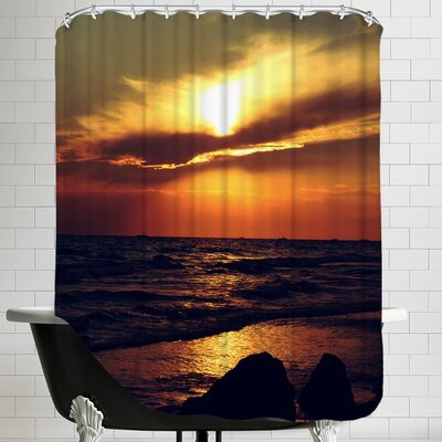 Sunset from Turkey Side Shower Curtain