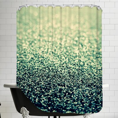 Shiny Shower Curtain Color: Green