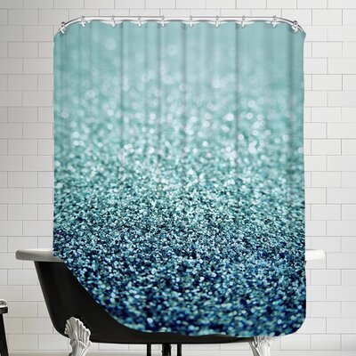 Shiny Shower Curtain Color: Blue