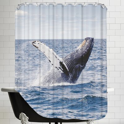 Sealife Ocean Whale Underwater Shower Curtain