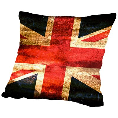 United Kingdom England Flag Throw Pillow Size: 16 H x 16 W x 2 D