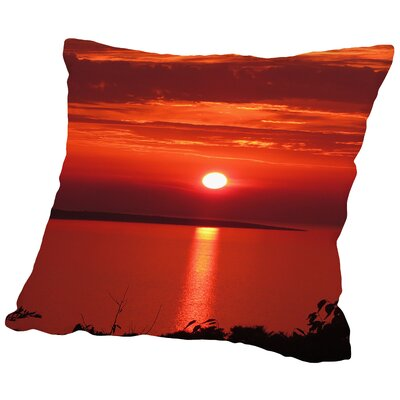 Sunset Sunrise Throw Pillow Size: 18 H x 18 W x 2 D