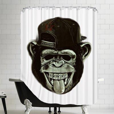 Hipster Monkey Ape Animal Shower Curtain