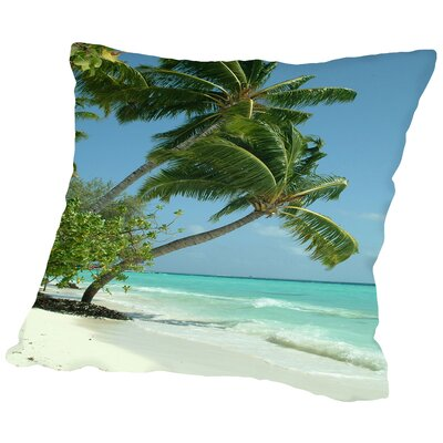 Maldives Beach Travel Holiday Throw Pillow Size: 14