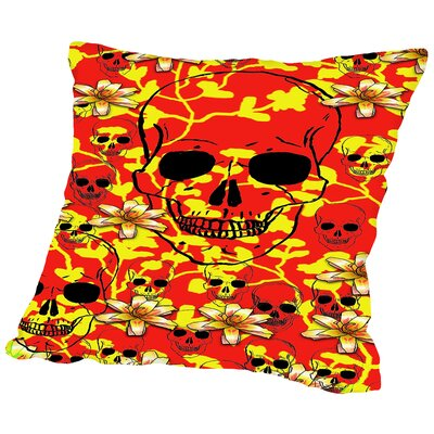 Skull Design Throw Pillow Size: 20 H x 20 W x 2 D