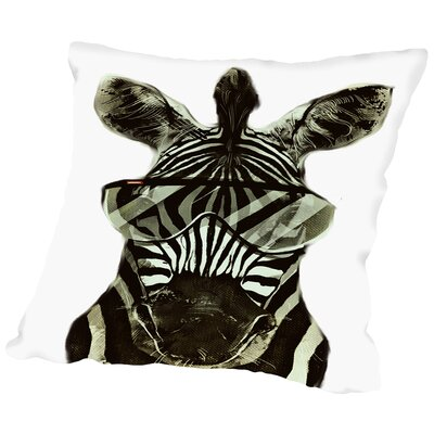 Hipster Zebra Africa Throw Pillow Size: 18 H x 18 W x 2 D