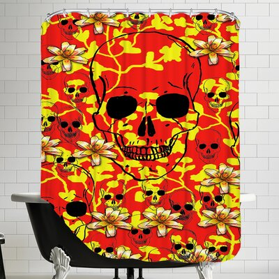 Skull Design Shower Curtain