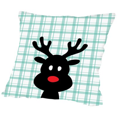Reindeer Christmas Print Throw Pillow Size: 18 H x 18 W x 2 D