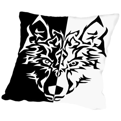 Wolf Animal Wolves Cotton Throw Pillow Size: 14 H x 14 W x 2 D