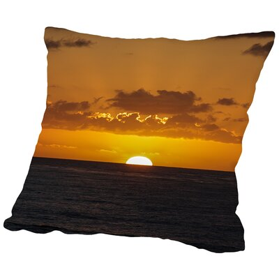 Wonderful Sunset Holiday Ocean Throw Pillow Size: 16 H x 16 W x 2 D