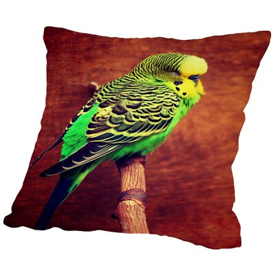 Wonderful Budgie Bird Animal Throw Pillow Size: 18 H x 18 W x 2 D
