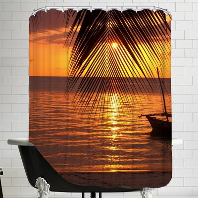 Zanzibar Sunset Palm Ocean Shower Curtain