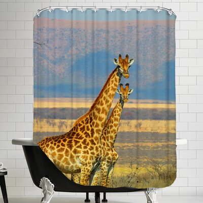 Wildlife African Giraffe Shower Curtain
