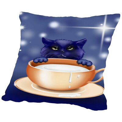Fantasy Kitten Cat Throw Pillow Size: 20 H x 20 W x 2 D
