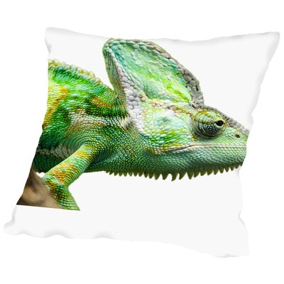 Exotic Reptile Animal Throw Pillow Size: 18 H x 18 W x 2 D