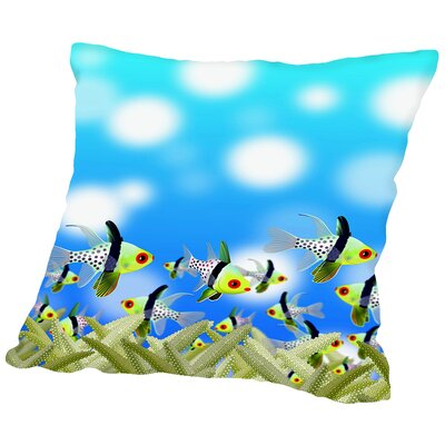 Fish Aquarium Design Throw Pillow Size: 18 H x 18 W x 2 D