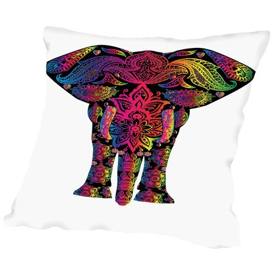 Decor Elephant Animal Colorful Throw Pillow Size: 20 H x 20 W x 2 D