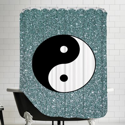 Shiny Ying and Yang Shower Curtain