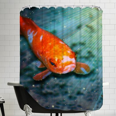 Fish Sealife With Stars Shower Curtain