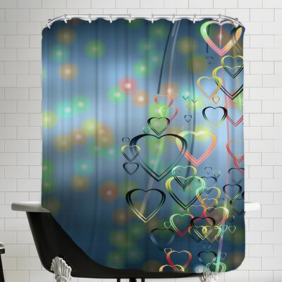 Falling Heart Love Romance Shower Curtain