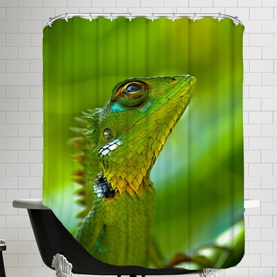 Exotic Tropical Reptile Animal Shower Curtain