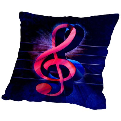 Colorful Music Clef Style Throw Pillow Size: 16 H x 16 W x 2 D