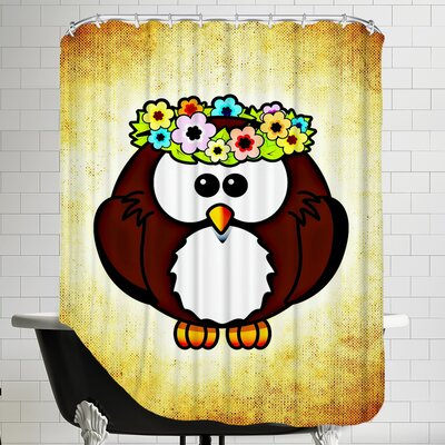 Cool And Funny Owl Bird Shower Curtain