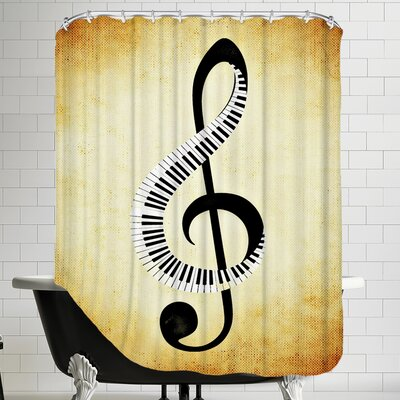 Clef Music Musically Shower Curtain