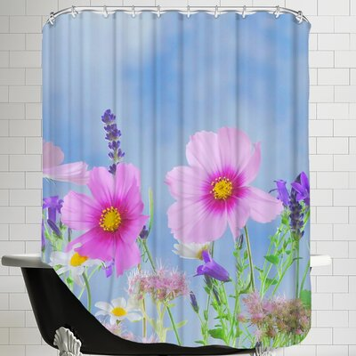 Wild Flowers Nature Field Shower Curtain
