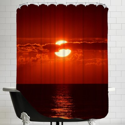 Sunset with Clouds and Ocean Shower Curtain