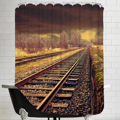 Railway Travel Nature Shower Curtain