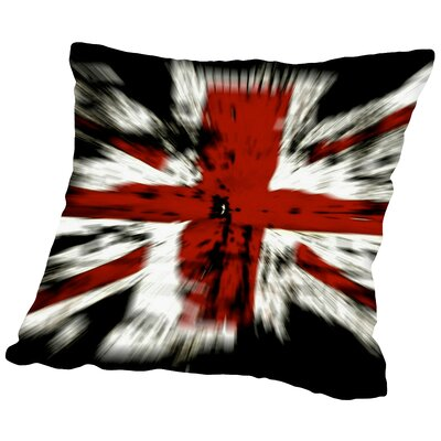 United Kingdom Flag Throw Pillow Size: 16 H x 16 W x 2 D