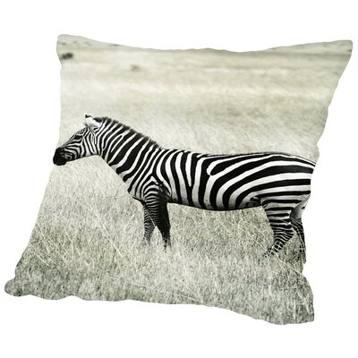 Zebra Africa Throw Pillow Size: 16 H x 16 W x 2 D