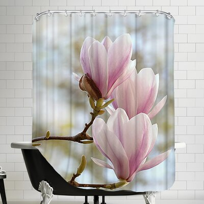 Magnolia Flower Bloom Shower Curtain