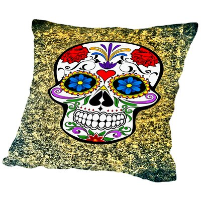 Modern and Trendy Horror Skull Throw Pillow Size: 18 H x 18 W x 2 D