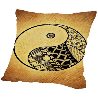 Yin And Yang Symbol Yoga Throw Pillow Size: 14 H x 14 W x 2 D