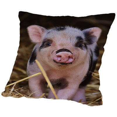 Farm Animal Pig Throw Pillow Size: 18 H x 18 W x 2 D